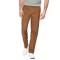 Red Herring - Dark tan straight leg chinos