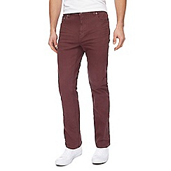 Red Herring - Big and tall wine red slim fit jeans