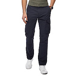 Red Herring - Big and tall navy cargo trousers
