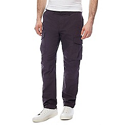 Red Herring - Big and tall dark grey cargo trousers
