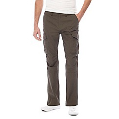 Red Herring - Big and tall khaki cargo trousers