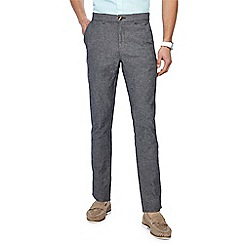 Red Herring - Dark grey textured slim fit trousers
