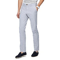 Red Herring - Light grey textured slim fit trousers