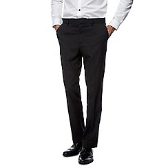 Red Herring - Big and tall black slim fit trousers