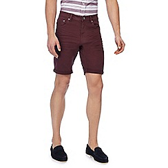 Red Herring - Big and tall wine red denim shorts