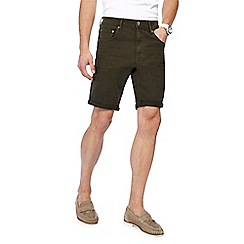 Red Herring - Big and tall khaki denim shorts