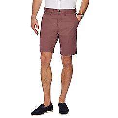 Red Herring - Dark pink regular fit chino shorts