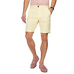Red Herring - Yellow regular fit chino shorts