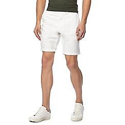 Red Herring - White chino shorts