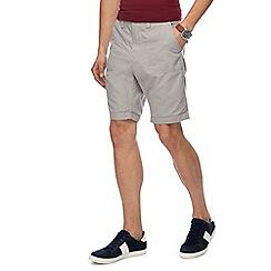 Red Herring - Big and tall light grey chino shorts