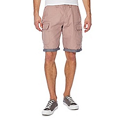 Red Herring - Big and tall pink beach cargo shorts