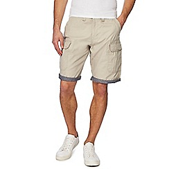 Red Herring - Big and tall natural beach cargo shorts