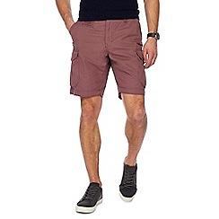 Red Herring - Dark pink regular fit cargo shorts