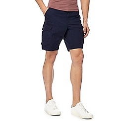 Red Herring - Big and tall navy cargo shorts