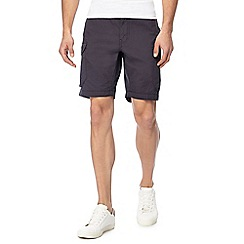 Red Herring - Dark grey cargo shorts