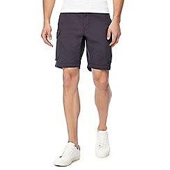 Red Herring - Big and tall dark grey cargo shorts
