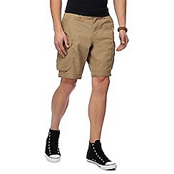 Red Herring - Big and tall tan cargo shorts
