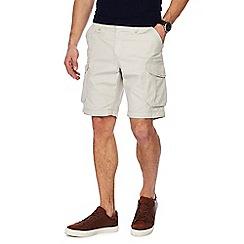 Red Herring - Off white regular fit cargo shorts