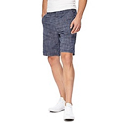 Red Herring - Navy textured chino shorts