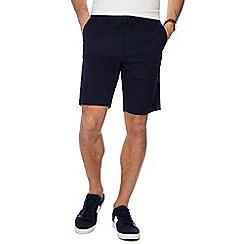 Red Herring - Big and tall navy regular fit chino shorts