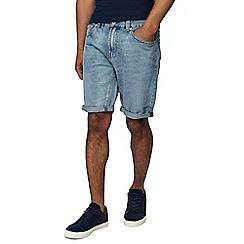 Red Herring - Blue light wash regular fit denim shorts