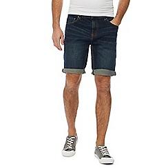 Red Herring - Dark blue dark wash denim shorts
