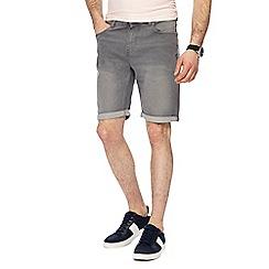 Maine New England - Light grey denim shorts