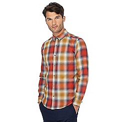 Red Herring - Red ombre check print slim fit shirt