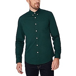 Red Herring - Green cotton long sleeve slim fit shirt