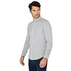 Red Herring - Grey stripe print long sleeve slim fit shirt
