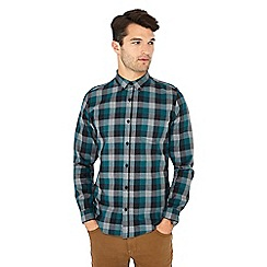 Red Herring - Green check print long sleeve slim fit shirt