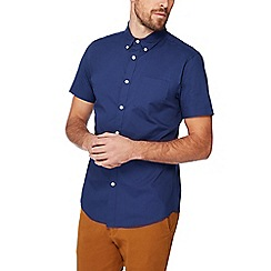 Red Herring - Navy cotton short sleeve sleeve slim fit shirt