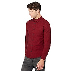 Red Herring - Red long cotton sleeve slim fit shirt