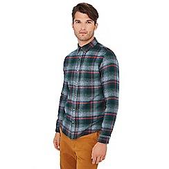 Red Herring - Green large check print long sleeve slim fit shirt