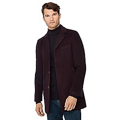 Red Herring - Wine red wool rich Epsom coat