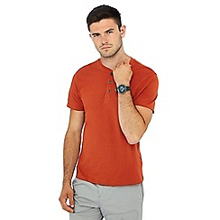 Red Herring - Dark orange grandad neck t-shirt