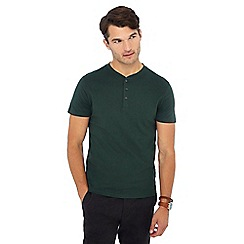 Red Herring - Dark green grandad neck t-shirt