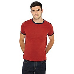 Red Herring - Big and tall dark red t-shirt