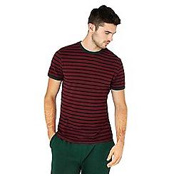 Red Herring - Dark red striped cotton t-shirt