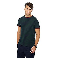 Red Herring - Big and tall dark green striped t-shirt