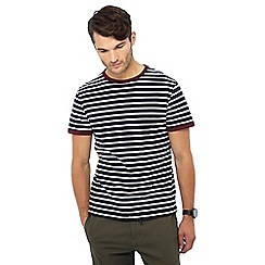 Red Herring - Big and tall navy striped t-shirt