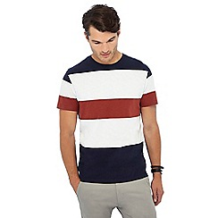 Red Herring - Big and tall multicoloured striped t-shirt