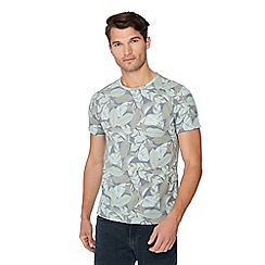 Red Herring - Dark grey leaf print t-shirt