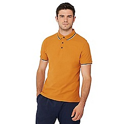 Red Herring - Mustard tipped collar polo shirt