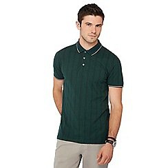Racing Green - Dark green vertical stripe polo shirt
