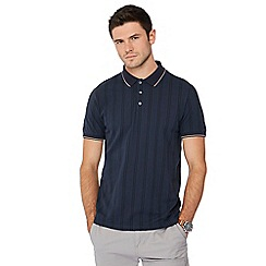 Racing Green - Navy vertical stripe polo shirt