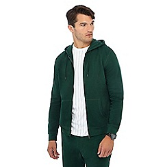 Red Herring - Dark green zip through hoodie