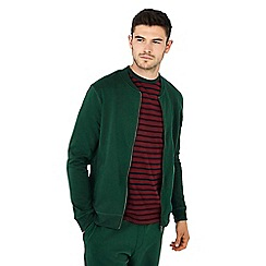 Red Herring - Dark green cotton rich baseball jacket