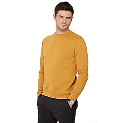 Red Herring - Big and tall mustard crew neck sweatshirt