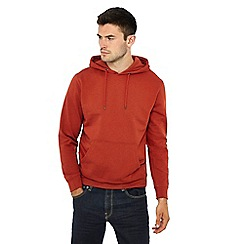 Red Herring - Big and tall dark orange hoodie